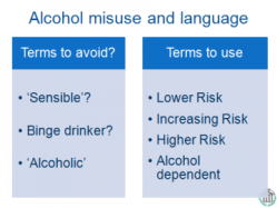 alcohol & language