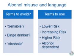 alcohol & language